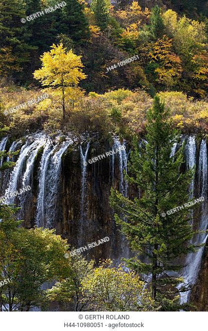Jiuzhaigou national park, Nuorilang Fall