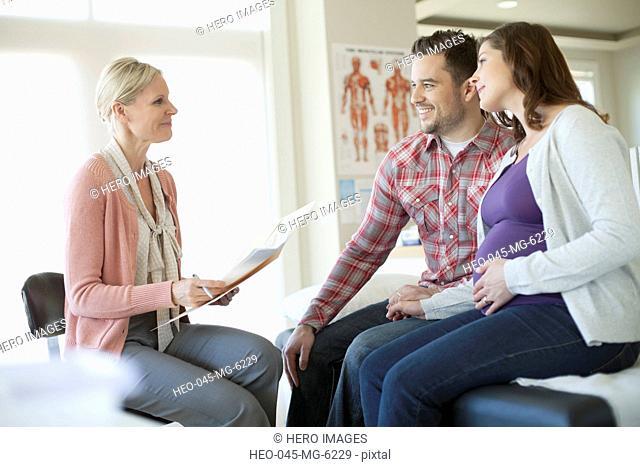 pregnant woman having medical examination