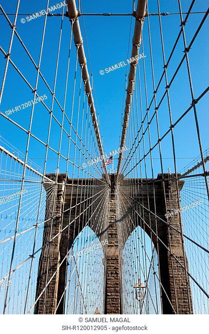 USA, New York, Brooklyn Bridge
