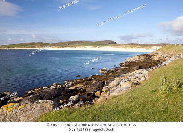 Island of Vatersay or Bhatarsaigh near Isle of Barra - Barraigh -, Western Isles or Outer Hebrides -Na h-Eileanan an lar-, Scotland