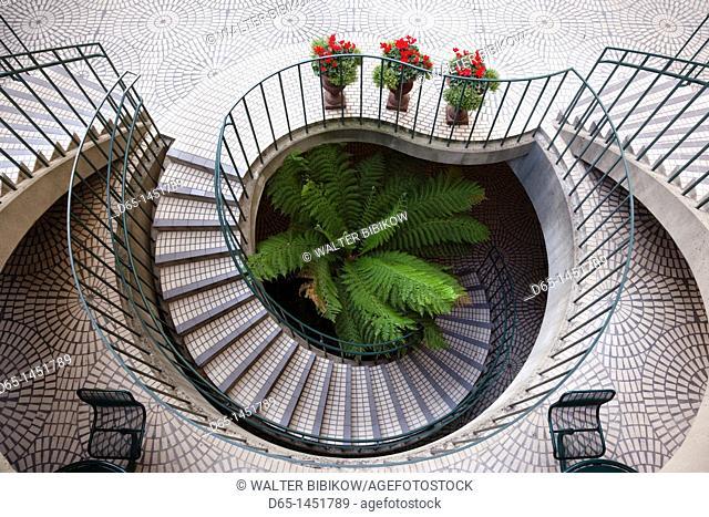 USA, California, San Francisco, Embarcadero, Embarcadero Center staircase