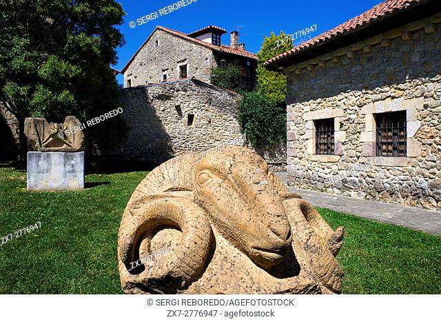 Jesus Otero sculptures and museum in Santillana Del Mar, Medieval Village in Cantabria, Spain. One of the stops of the Transcantabrico Gran Lujo luxury train