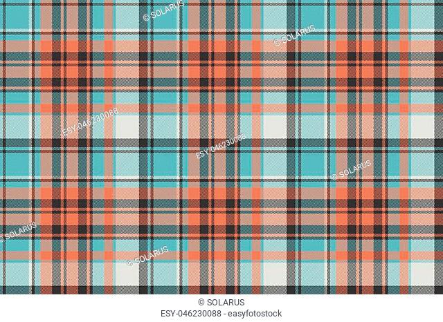 Modern check plaid fabric texture seamless pattern. Vector illustration