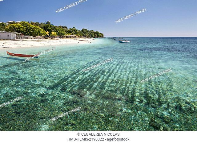 Indonesia, Lesser Sunda Islands, Alor archipelago, Kangge island, seeweed cultivation of Kappaphycus sp. for carrageenan in Kangge Island