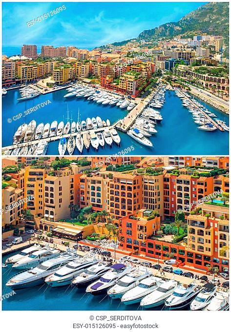 collage of Monaco harbour, Cote d'Azur