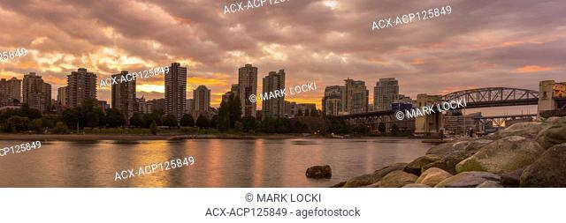 Sunrise in Vancouver as seen from Vanier Park, Vancouver, British Columbia, Canada