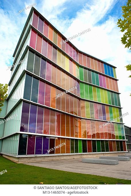 MUSAC, Museo de Arte Contemporaneo de Castilla y León. Architects Emilio Tuñón and Luis Moreno Mansilla. Leon. Castilla y León. Spain. Europe