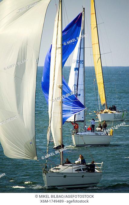 Sailing, El Abra de Bilbao, Biscay, Basque Country, Spain