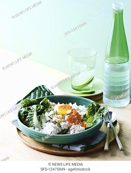 Egg and ginger rice with roe