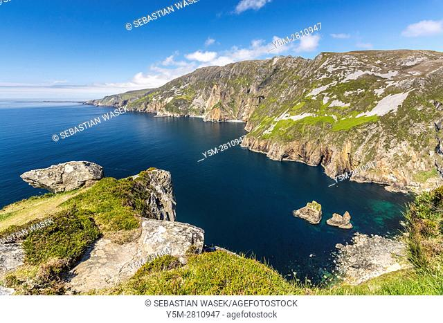 Slieve League cliffs near Carrick in county Donegal, Ireland, Europe