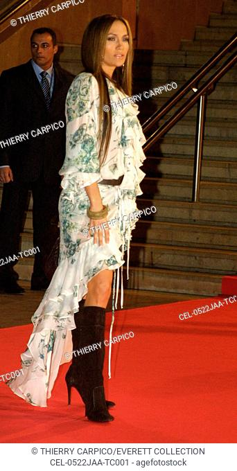 Jennifer Lopez arrives at the NRJ MUSIC AWARDS at the Palais des Festivals on January 22, 2005 in Cannes, France. (Photo by Thierry Carpico/Everett Collection)