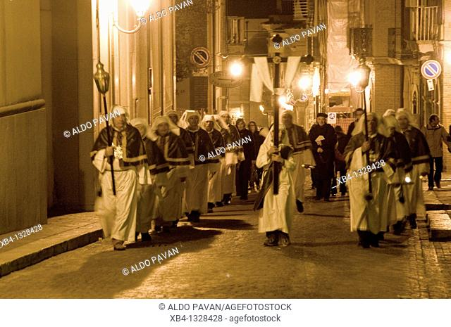 Procession of Maundy Thursday, Troia, Apulia, Italy