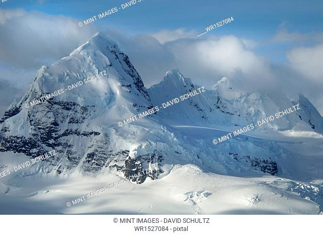 The mountainous landscape of Antarctica