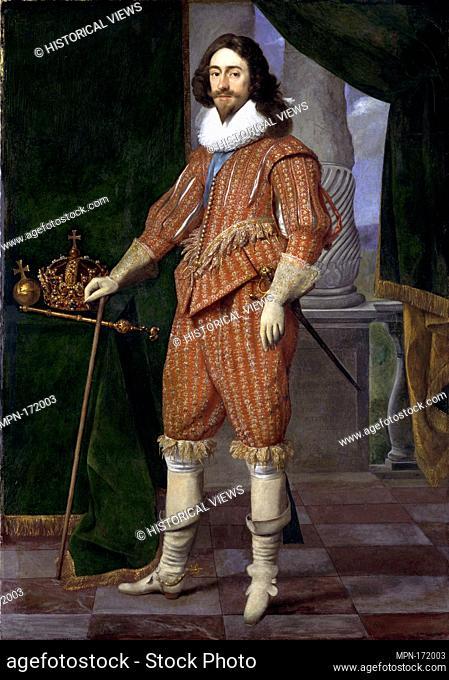 Charles I (1600-1649), King of England. Artist: Daniël Mijtens (Dutch, Delft ca. 1590-1647/48 The Hague); Date: 1629; Medium: Oil on canvas; Dimensions: 78 7/8...