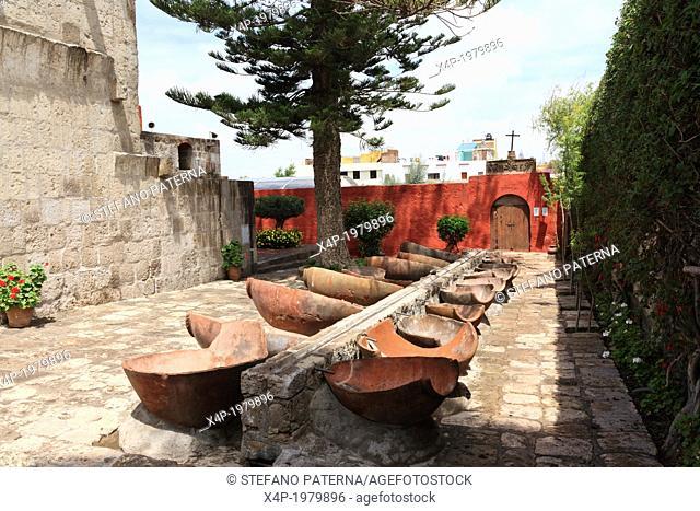 Washbasin, The Monastery of Saint Catherine, Arequipa, Peru