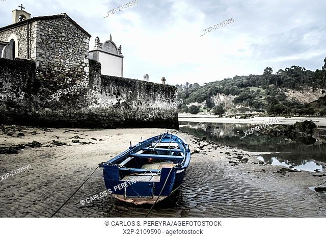 Paris Church of Niembro, Ria de Barro, Llanes, Asturias, Spain