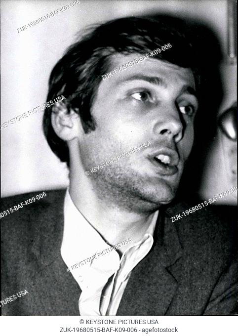 May 15, 1968 - The vice president of the National Union of Students of France, Jacques Suvageot held a press conference and stated that he was in favor of...