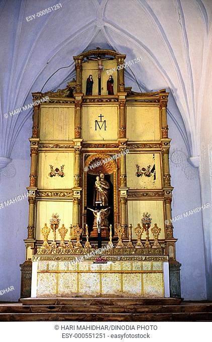 Main Alter in Our Lady of Rosary , Goa , India