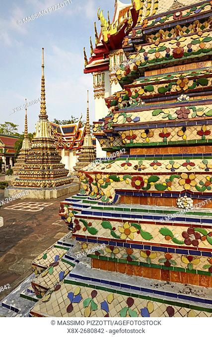 Phra Chedi Rai at Wat Pho, Bangkok, Thailand