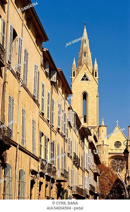 France, Aix en France, Provence, Saint-Jean-de-Malte Church, cityscape