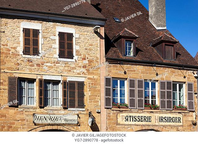 Architecture of Arbois, Jura department, Franche-Comté, France