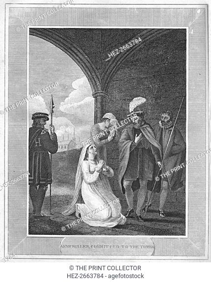 'Anne Bullen, Committed to the Tower', 1838. Artist: Unknown