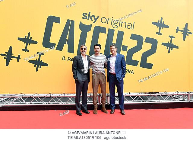 George Clooney, Christopher Abbott, Kyle Chandler during 'Catch-22' TV show photocall, Rome, Italy - 13 May 2019