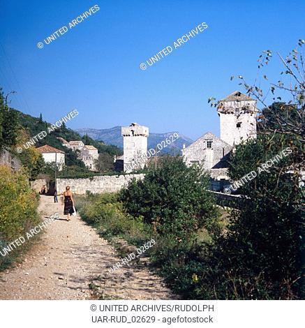 Urlaub auf der Insel Šipan, Dalmatien, Kroatien, Jugoslawien 1970er Jahre. Vacation on the Island of Šipan, Dalmatia, Croatia, Yugoslavia 1970s
