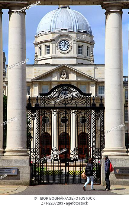 Ireland, Dublin, Government Buildings,