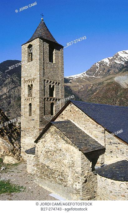 Sant Joan de Boí church. Boí Valley, Pyrenees Mountains. Lleida province. Spain