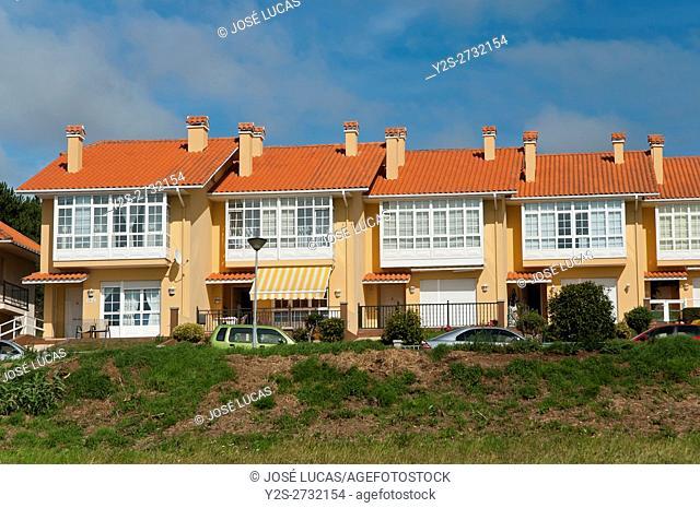 houses, Valdoviño, La Coruña province, Region of Galicia, Spain, Europe