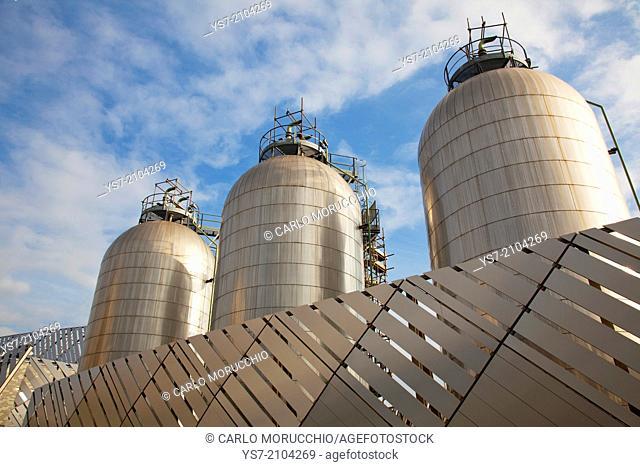 Iren district heating power plant in Turin, Piedmont, Italy, Europe