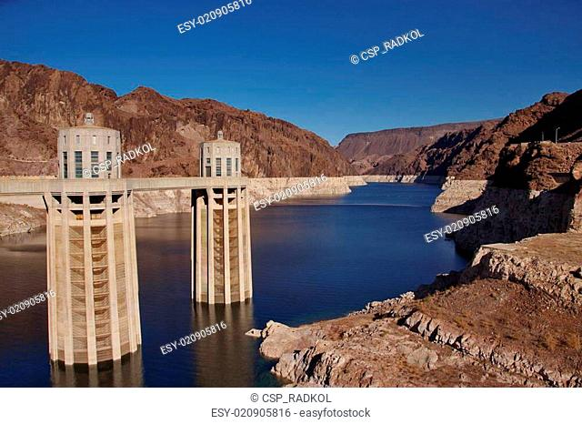 The arch gravity dam in arizona Stock Photos and Images | age fotostock