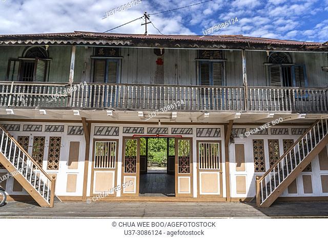 Thjia's old wooden bungalow in Singkawang, West Kalimantan, Indonesia