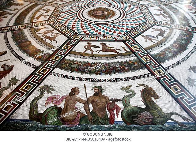 Hermitage Museum, Pavillion room, Roman Mosaic