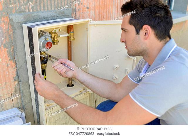 Checking the water meter