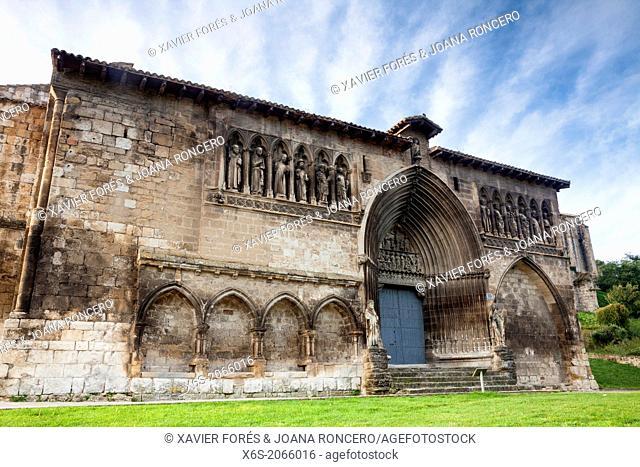 St. James way; Church of Santo Sepulcro at Estella, Navarra, Spain