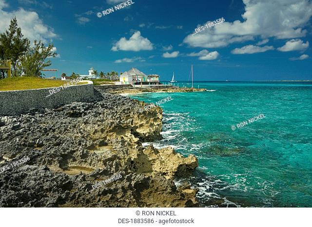 Shoreline Along The Caribbean, Nassau, Bahamas