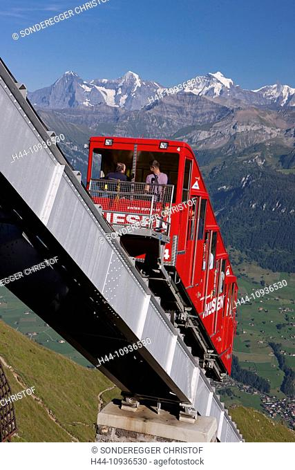 cable car, Niesen, Jungfrau, monk, Mönch, Eiger, mountain, mountains, mountain road, canton, Bern, Bernese, Alps, Bernese Oberland, funicular, railway