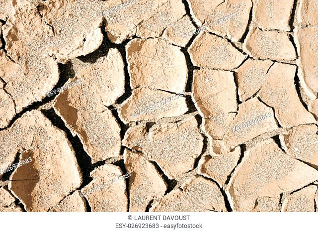 dry mud desert background texture. Global Warming
