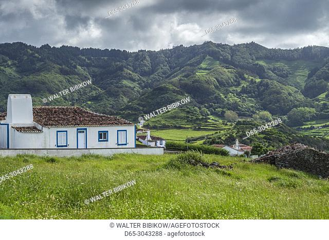 Portugal, Azores, Santa Maria Island, Norte, farmhouse