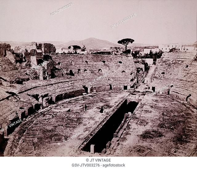 Flavian Amphitheater, Pozzuoli, Italy, circa 1880
