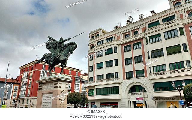 Cid Campeador statue, Burgos city, Castile and Leon, Spain
