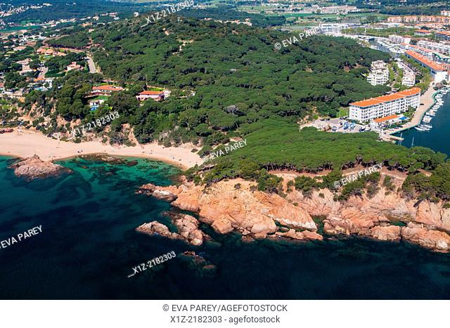 Punta de Pinell en Platja d'Aro. Costa Brava