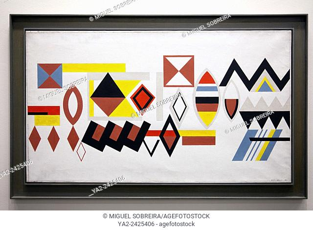 'Espacelimte' by Nadir Afonso at Museu Nacional de Arte Contemporânea do Chiado, Chiado Museum in Lisbon - portugal