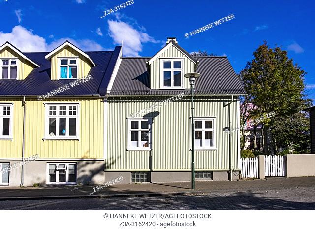 Traditional houses in Reykjavik, Iceland
