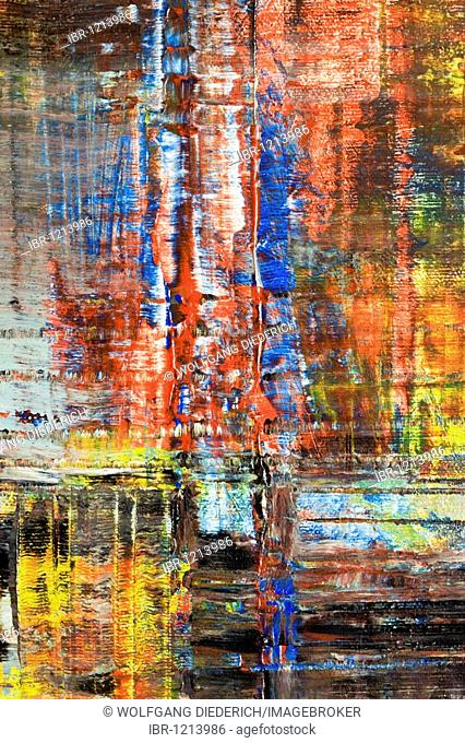 Skyscrapers of Manhattan, New York, abstract acrylic painting, artist Gerhard Kraus, Kriftel, Germany