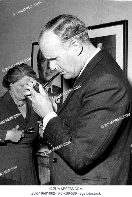 Oct. 2, 1960 - London, England, U.K. - JOHN HARE (1911-1982), known as 1st Viscount Blakenham, was a conservative politician who served as Secretary of State...