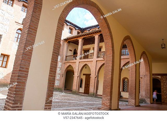 Courtyard. La Mota castle, Medina del Campo, Valladolid province, Castilla Leon, Spain
