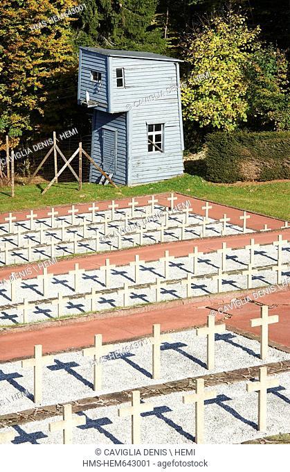 France, Bas Rhin, Natzwiller, Struthof KL Natzwiller Camp and the European Centre of Deported Resistance Members, the Deportation Memorial